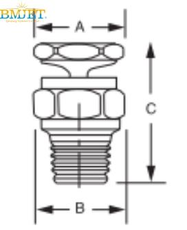 一体式空心锥形喷嘴结构图