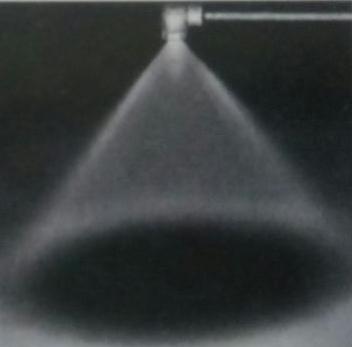 空心锥转角喷嘴喷雾效果
