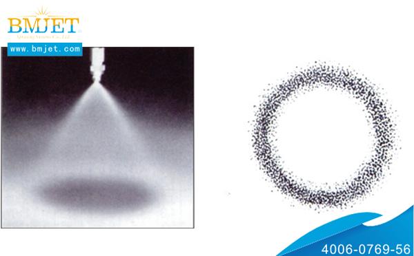 直线型空心锥形喷嘴喷雾效果图