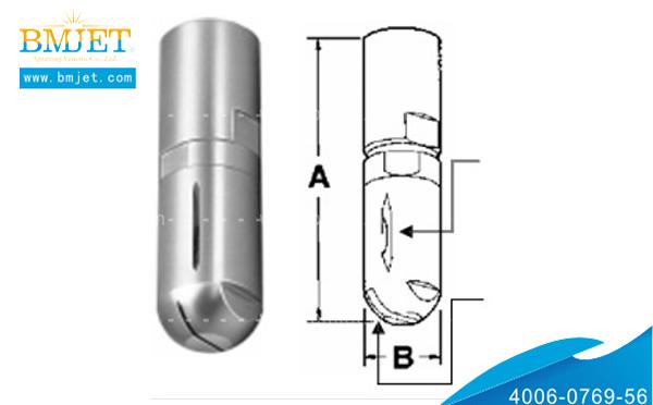 不锈钢紧凑式清洗喷嘴外形尺寸