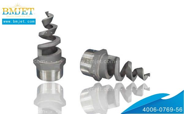 不锈钢脱硫除尘应用实心锥形螺旋喷嘴